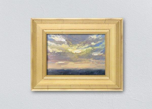 Sunrise Two Framed Gold by Kelli Folsom