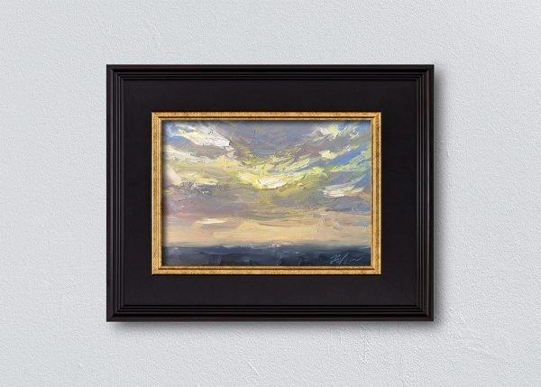 Sunrise Two Framed Black by Kelli Folsom