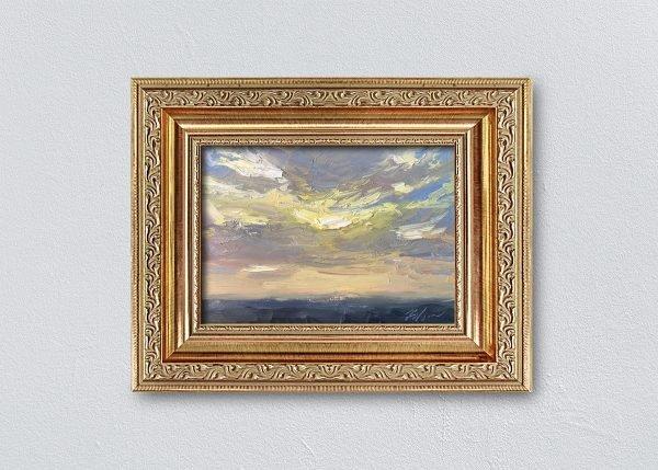 Sunrise Two Framed Gold Ornate by Kelli Folsom.