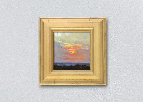 Sunrise Thirty Gold Framed by Kelli Folsom.