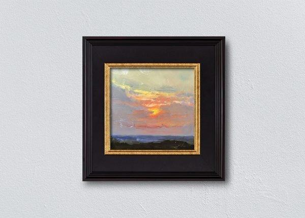 Sunrise Thirty Black Framed by Kelli Folsom.