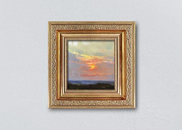 Sunrise Thirty Gold Ornate Framed by Kelli Folsom.