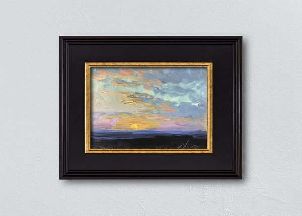Sunrise Three Black Framed by Kelli Folsom.