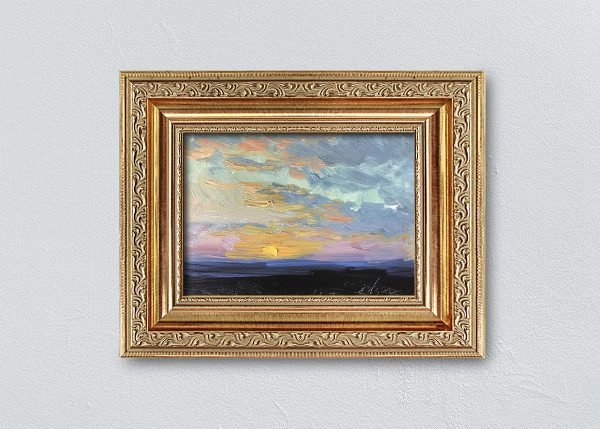 Sunrise Three Framed Gold Ornate by Kelli Folsom.