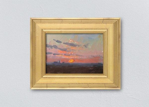 Sunrise Four Gold Framed by Kelli Folsom