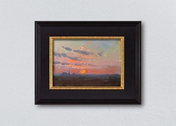 Sunrise Four Black Framed by Kelli Folsom