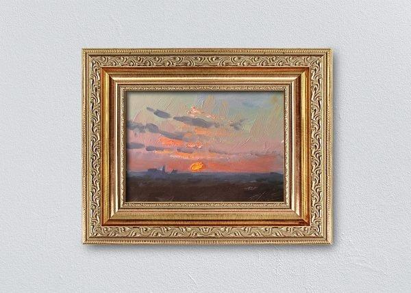 Sunrise Four Gold Ornate Framed by Kelli Folsom