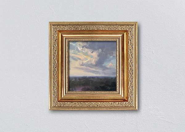 Sunrise Seven Gold Ornate Framed by Kelli Folsom.