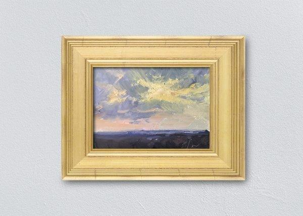 Sunrise Eight Gold Framed by Kelli Folsom.