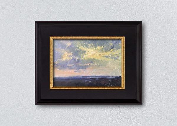 Sunrise Eight Black Framed by Kelli Folsom.