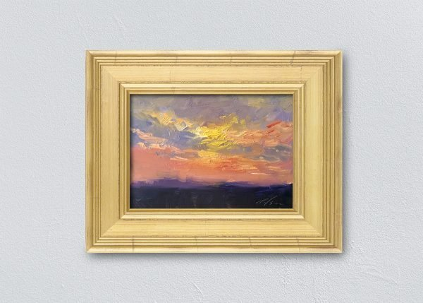 Sunrise Nine Gold Framed by Kelli Folsom.