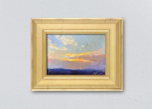 Sunrise Thirty-One Gold Framed by Kelli Folsom.