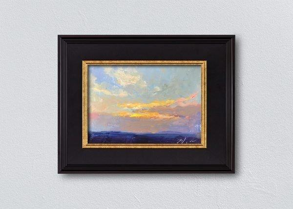 Sunrise Thirty-One Black Framed by Kelli Folsom.