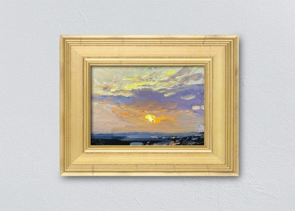 Sunrise Thirty-Three Gold Framed by Kelli Folsom.