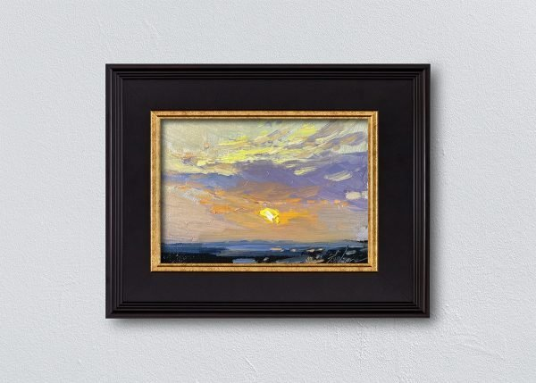 Sunrise Thirty-Three Black Framed by Kelli Folsom.
