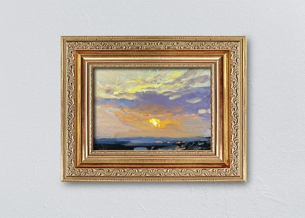 Sunrise Thirty-Three Gold Ornate Framed by Kelli Folsom.