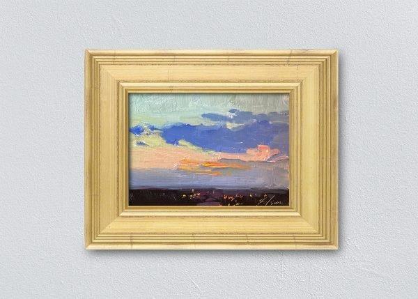 Sunrise Thirty-Four Gold Framed by Kelli Folsom.