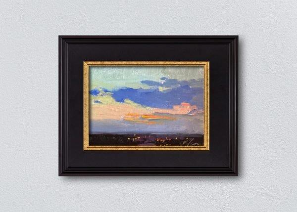 Sunrise Thirty-Four Black Framed by Kelli Folsom.