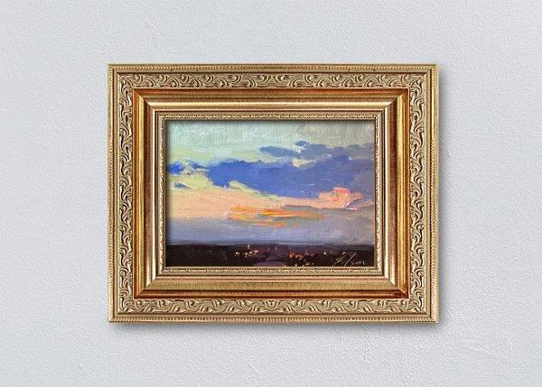 Sunrise Thirty-Four Gold Ornate Framed by Kelli Folsom.