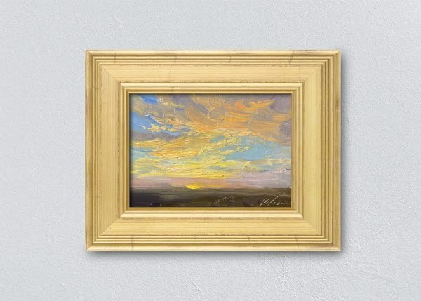 Sunrise Thirty-Five Gold Framed by Kelli Folsom.