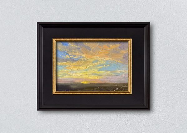 Sunrise Thirty-Five Black Framed by Kelli Folsom.