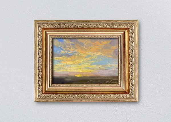 Sunrise Thirty-Five Gold Ornate Framed by Kelli Folsom.