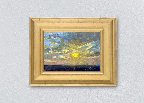 Sunrise Thirty-Six Gold Framed by Kelli Folsom.