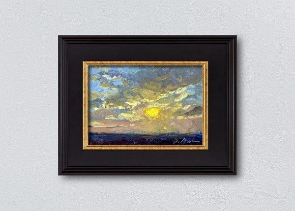 Sunrise Thirty-Six Black Framed by Kelli Folsom.