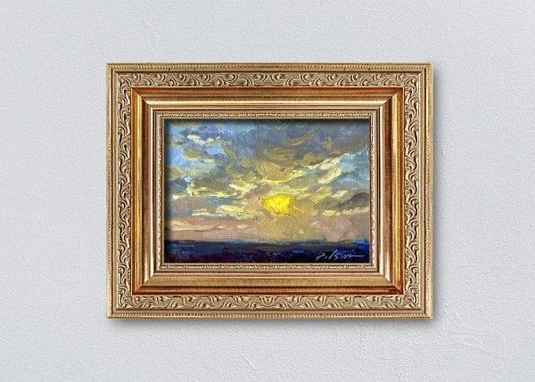 Sunrise Thirty-Six Gold Ornate Framed by Kelli Folsom.