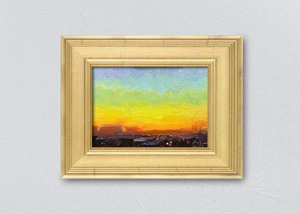 Sunrise Thirty-Seven Gold Framed by Kelli Folsom.