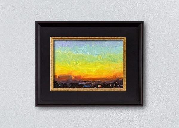 Sunrise Thirty-Seven Black Framed by Kelli Folsom.