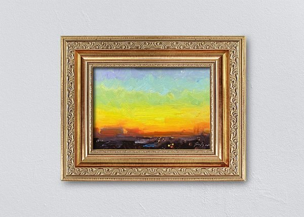 Sunrise Thirty-Seven Gold Ornate Framed by Kelli Folsom.