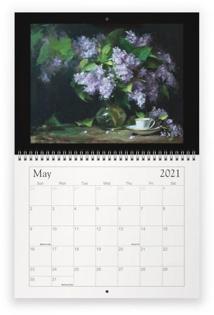 May 2021 Beauty of Still Life Calendar by Kelli Folsom