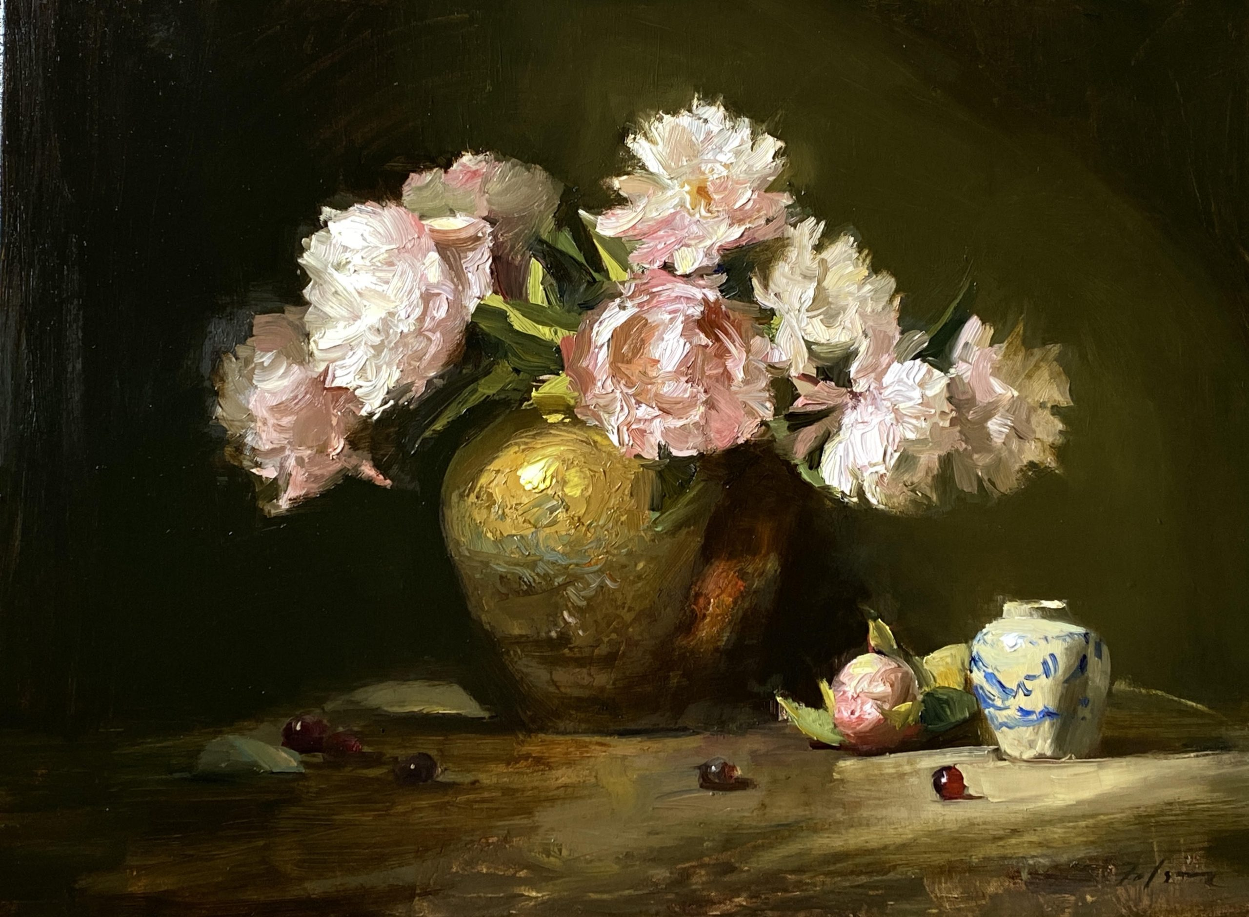 Here's why I love painting peonies. New peony art fresh off the easel!